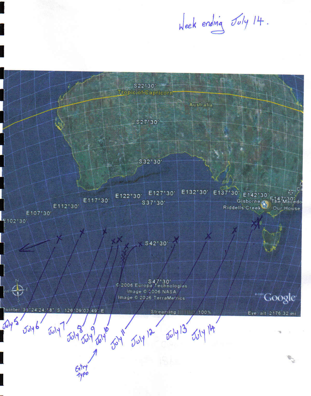 Map Of Australia King Island.Timelines Maps